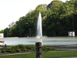 The fountain at Eden Park