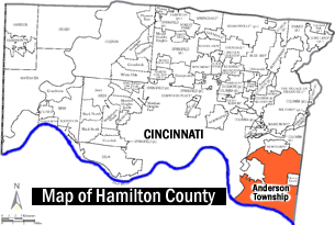 Anderson Twsp location within Hamilton County